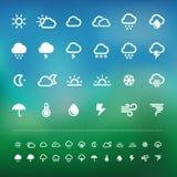 Комплект значка погоды сетчатки Стоковые Фотографии RF