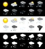 Комплект значка погоды Иллюстрация вектора