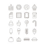 Комплект значка помадки и конфеты Стоковые Изображения