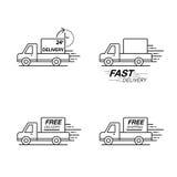 Комплект значка поставки Обслуживание приемистости, заказ, 24 часа, быстрый и свободный Стоковые Изображения