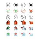Комплект значка почтового обслуживания Стоковые Изображения