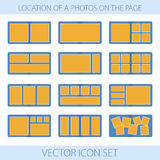 Комплект значка положения фото в photobook Стоковое фото RF