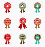 Комплект значка предложения продажи Уплотнения/стикеры Promo иллюстрация штока