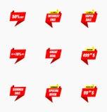 Комплект значка предложения продажи Уплотнения/стикеры Promo Стоковые Изображения