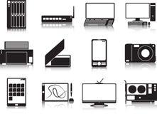 Комплект значка приборов мультимедиа Стоковые Изображения RF