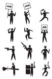 Комплект значка протеста занятости Стоковое фото RF