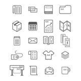 Комплект значка продукции Polygraphy Стоковые Фотографии RF