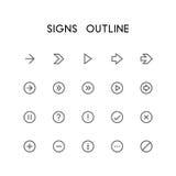 Комплект значка плана знаков Стоковое Изображение RF