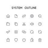 Комплект значка плана системы Стоковая Фотография