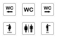 Комплект значка плиты двери WC/туалета иллюстрация вектора