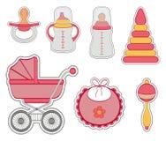 Комплект значка ребёнка иллюстрация штока