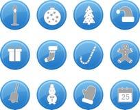 Комплект значка рождества, вектор Стоковые Изображения