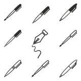 Комплект значка ручки Стоковая Фотография
