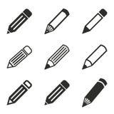 Комплект значка ручки Стоковые Изображения