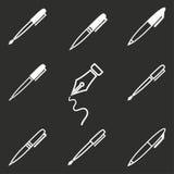 Комплект значка ручки Стоковые Фото