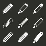 Комплект значка ручки Стоковые Изображения RF