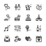 Комплект значка свадьбы, вектор eps10 Стоковое Фото