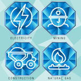 Комплект значка сектора энергетики Стоковое фото RF