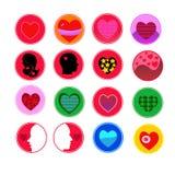 Комплект значка сердца вектор Стоковые Фото
