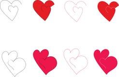 Комплект значка сердца новый Стоковое Фото