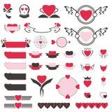 Комплект значка сердца Стоковые Фото