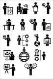 Комплект значка сети дела Стоковые Изображения