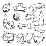 Комплект значка спорта иллюстрация штока