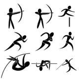 Комплект значка спорта Стоковые Изображения