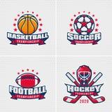 Комплект значка спорта Стоковые Фото