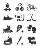 Комплект значка спортивного инвентаря Стоковое фото RF