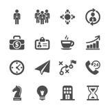 Комплект значка стратегии бизнеса, вектор eps10 Стоковые Фото