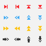 Комплект значка стрелки Стоковые Фотографии RF