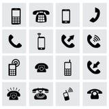 Комплект значка телефона вектора иллюстрация штока