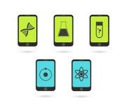 Комплект значка телефона бесплатная иллюстрация