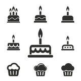 Комплект значка торта Стоковые Фотографии RF