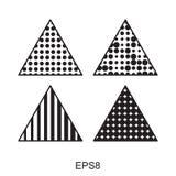 Комплект значка треугольника точек Иллюстрация вектора