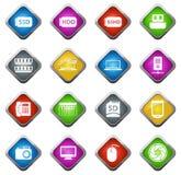 Комплект значка устройства Стоковое Изображение RF
