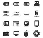 Комплект значка устройства Стоковые Изображения RF