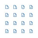 Комплект значка файла Стоковые Фотографии RF