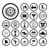 Комплект значка футбола Стоковое Фото