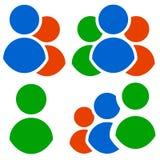 Комплект значка характера Группа, сход, значки организации иллюстрация штока