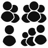 Комплект значка характера Группа, сход, значки организации иллюстрация вектора