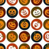 Комплект значка хеллоуина жизнерадостных тыкв Комплект значка Стоковая Фотография RF