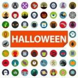 Комплект значка хеллоуина стоковые изображения rf