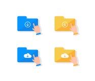 Комплект значка хранения облака Стоковые Изображения