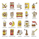 Комплект значка хлебопекарни Стоковые Фотографии RF