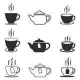 Комплект значка чая Стоковое Фото