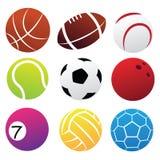 Комплект значка шариков спорта Стоковая Фотография RF