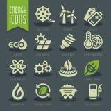 Комплект значка энергии Стоковое Изображение