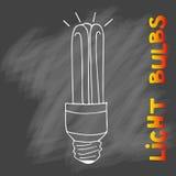 Комплект значка электрических лампочек Концепция Стоковые Изображения